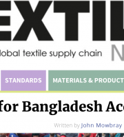 Ecotextile News on the Accord Letter by amfori and other NGOs