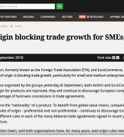 Rules of Origin Blocking Trade Growth for SMEs