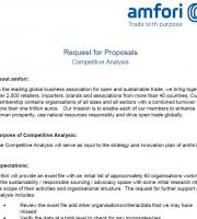 Request for Proposals: Competitive Analysis